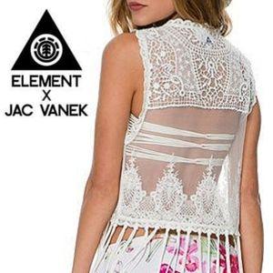 NWT Vintage Element x Jac Vanek Boho Lace Vest Top